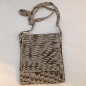 Crocheted Messenger Crossbody Bag Purse by Chateau